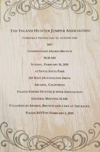 2017 IEHJA Banquet Invitation